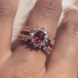 Ruby red ring S925